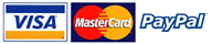 We accept Visa and Mastercard via PayPal